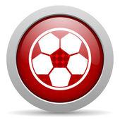 футбол красный круг веб глянцевой значок — Стоковое фото