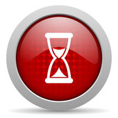 Time red circle web glossy icon — Stock Photo