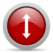 Arrows red circle web glossy icon — Stock Photo