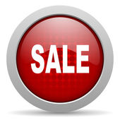 Sale red circle web glossy icon — Stock Photo
