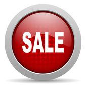 продажа красный круг веб глянцевой значок — Стоковое фото