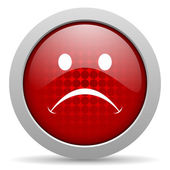 Cry red circle web glossy icon — Stock Photo