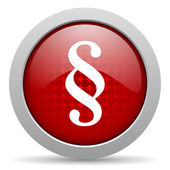 Paragraph red circle web glossy icon — Stock Photo
