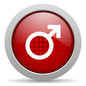 Sex red circle web glossy icon — Stock Photo