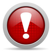 Exclamation sign red circle web glossy icon — Stock Photo