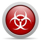 Virus red circle web glossy icon — Stock Photo