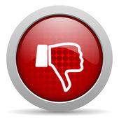 Dislike red circle web glossy icon — Stock Photo