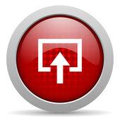 введите красный круг веб глянцевой значок — Стоковое фото