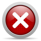 Cancel red circle web glossy icon — Stock Photo
