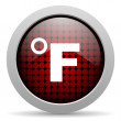 Stock Photo: Fahrenheit glossy icon