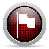 Flag glossy icon — Stock Photo