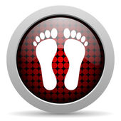 Icona lucido impronta — Foto Stock