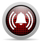 Alarm glossy icon — Stock Photo