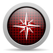 Compass glossy icon — Stock Photo