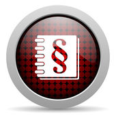 Law glossy icon — Stock Photo