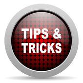 Tips glossy icon — Stock Photo