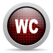 Wc glossy icon — Stock Photo