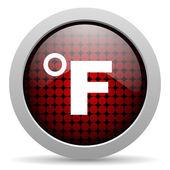 Fahrenheit glossy icon — Stock Photo