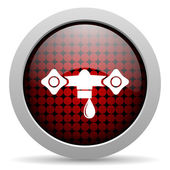 Water glossy icon — Stock Photo
