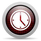 Clock glossy icon — Stock Photo