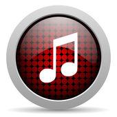 Müzik parlak simgesi — Stok fotoğraf