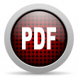Pdf glossy icon - Stock Photo
