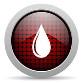 Water drop glossy icon — Stock Photo