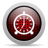 Alarm clock glossy icon — Stock Photo