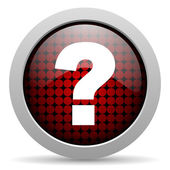 Question mark glossy icon — Stock Photo