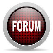 Forum glossy icon — Stock Photo