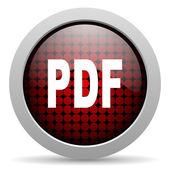 Pdf glossy icon — Stock Photo