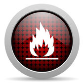 Flames glossy icon — Stock Photo
