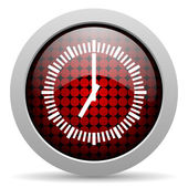 Clock glossy icon — Stock Photo