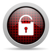 Padlock glossy icon — Stock Photo