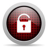 Padlock glossy icon — Stock Photo