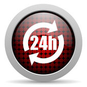 24h glossy icon — Stock Photo