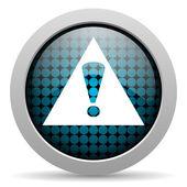 Warning glossy icon — Stock Photo