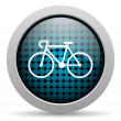 Bicycle glossy icon - Stock Photo