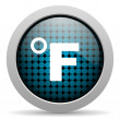 Fahrenheit glossy icon — Stock Photo