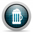 Beer glossy icon — Stock Photo #25170719