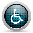 Accessibility glossy icon — Stock Photo