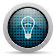 Light bulb glossy icon — Stock Photo