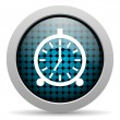 Alarm clock glossy icon — Stock Photo