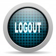 Logout glossy icon - Stock Photo