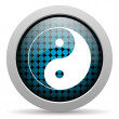 Ying yang glossy icon — Stock Photo #25172457