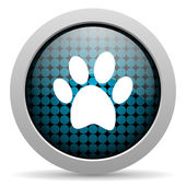 Animal footprint glossy icon — Stock Photo