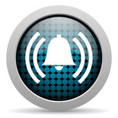 Alarm glossy icon — Stock Photo