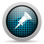 Pin glossy icon — Stock Photo