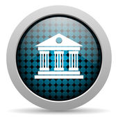 Museum glossy icon — Stock Photo