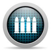 Icono brillante municiones — Foto de Stock